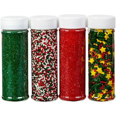 Wilton Sprinkles Holiday Christmas Mega Set, 4 pack, 19.3 oz. for $<!---->