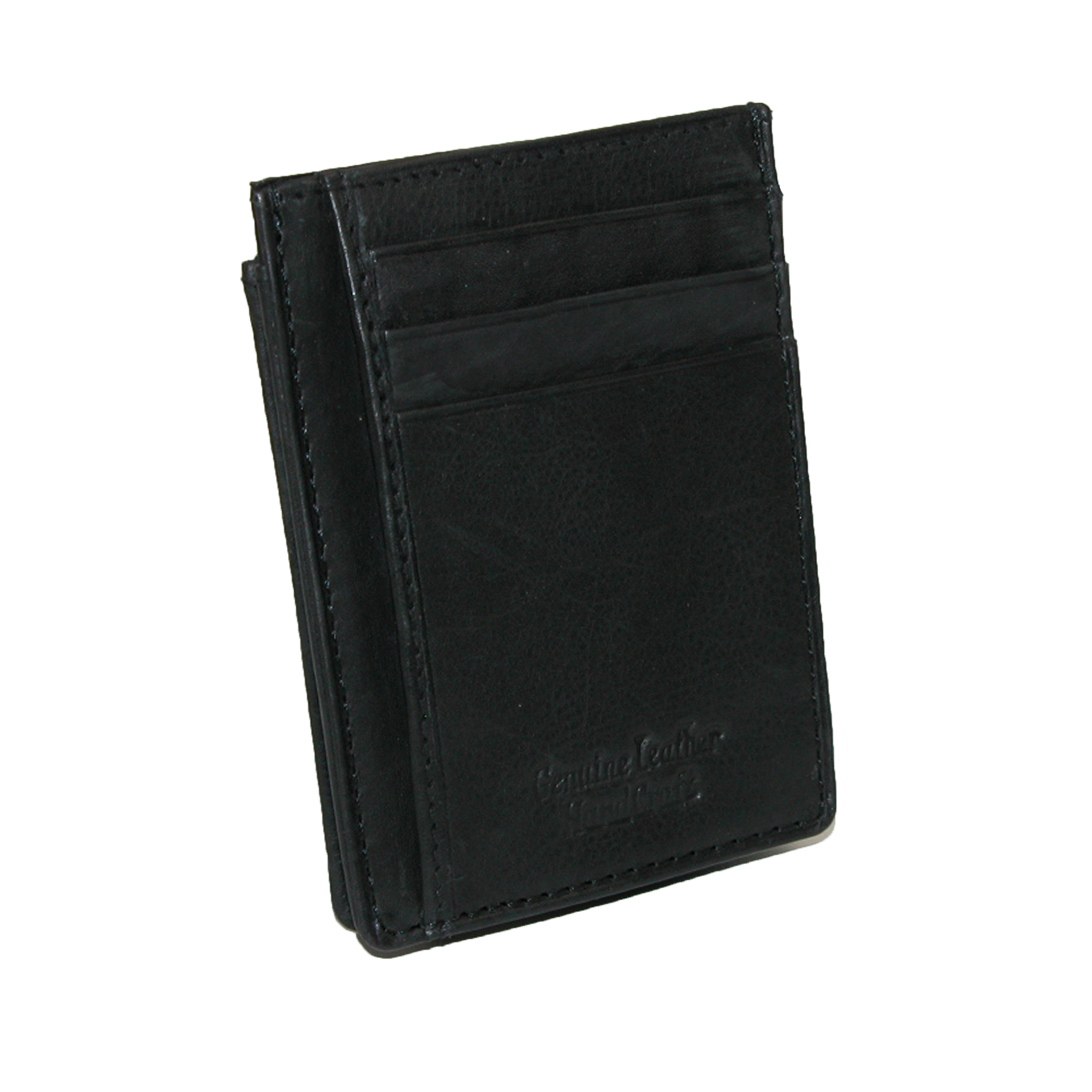 Mens Leather Wallet Money Clip Credit Card Id Holder Front Pocket