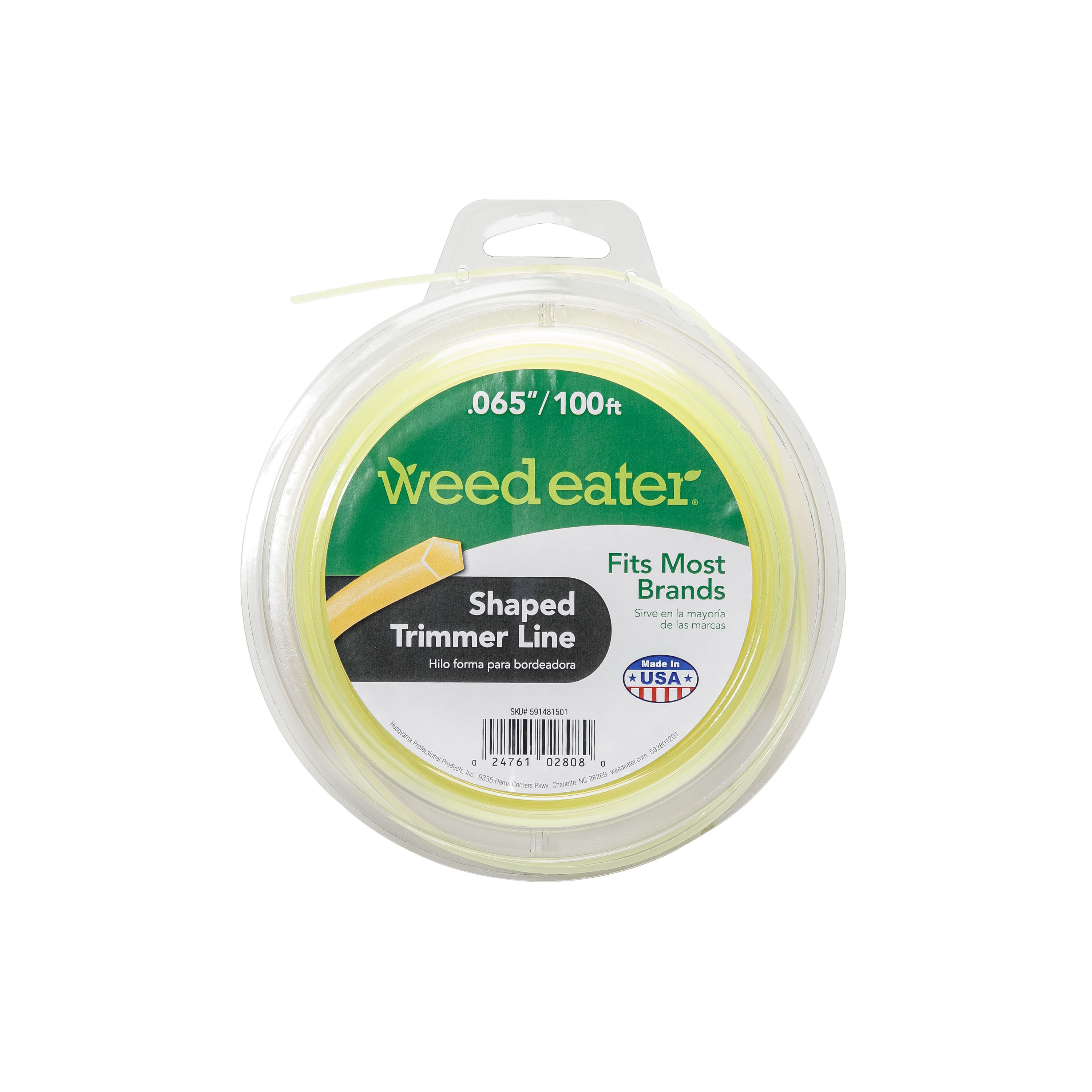 Weed Eater .065x100 Shaped Replacement String Trimmer Line
