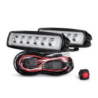 Nilight 2PCS 18W Spot LED Work Lights Led Pods Fog Lights Off Road Led Lights Driving Lights With Off Road Wiring Harness, 2 Years Warranty