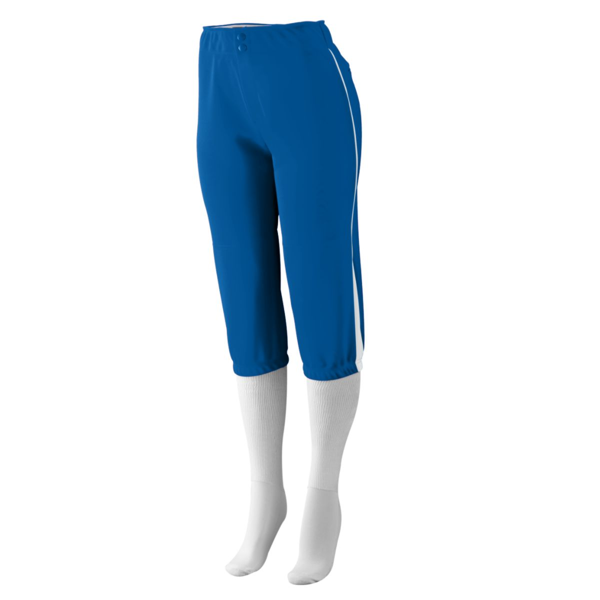 Augusta Sportswear Girls' Drive Low Rise Softball Pant L Royal/White - image 1 of 1