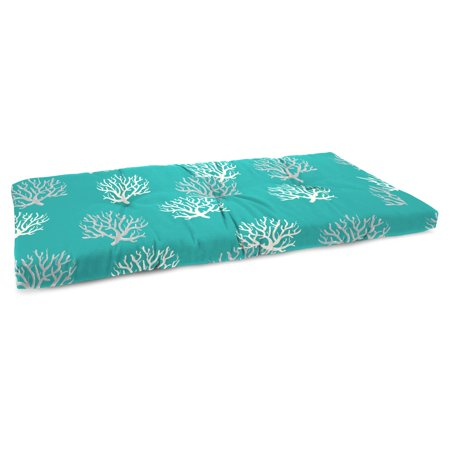 Jordan Manufacturing 45 in. French Edge Outdoor Bench Cushion - Isadella Ocean ()