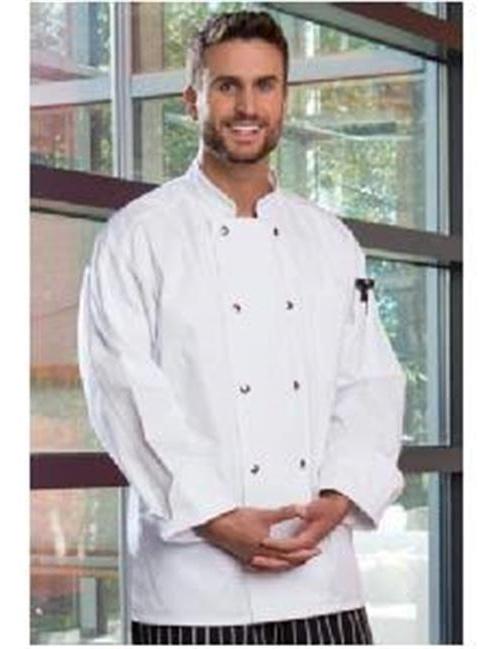Vtex 0413-6305 5.25 oz Chef Coat 10 Button, Avocado - Extra Large