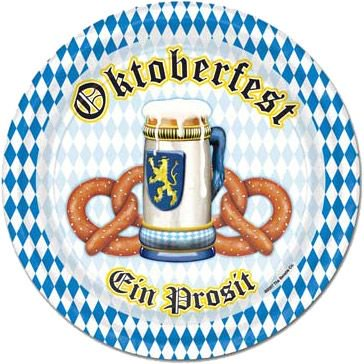 Oktoberfest Luncheon Plates (8 Pack) - Party Supplies