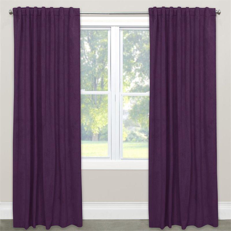 "Skyline 108"" Blackout Window Curtain Panel in Velvet Aubergine"