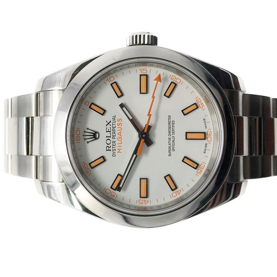 36bfea575d3 Rolex - Rolex Milgauss 116400 White Stick dial and Stainless Steel ...