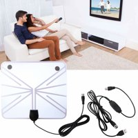 TV Antenna Indoor Digital HDTV Freeview 4K HD VHF UHF for Local Channels 130 Miles with Signal Amplifier for All Television
