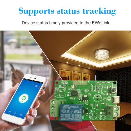 eWeLink DC5V / USB5V Wifi Switch Wireless Relay Module Smart Home  Automation Modules Phone APP Remote Control Timer Switch Compatible with  Home Voice
