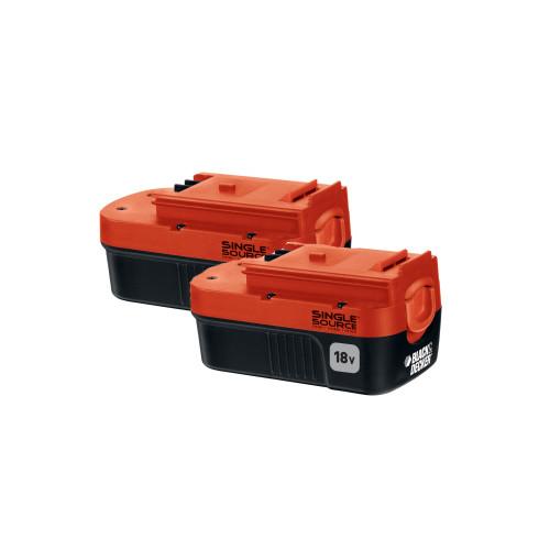 Black & Decker Double Pack 18V Nicd Battery, 1.5 Ah, HPB18-OPE2
