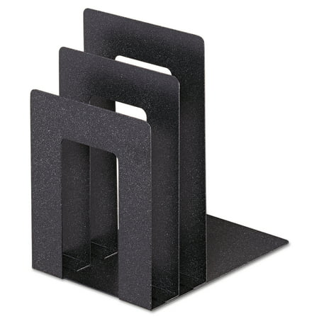 Granite Corner - SteelMaster Soho Bookend with Squared Corners, 5w x 7d x 8h, Granite