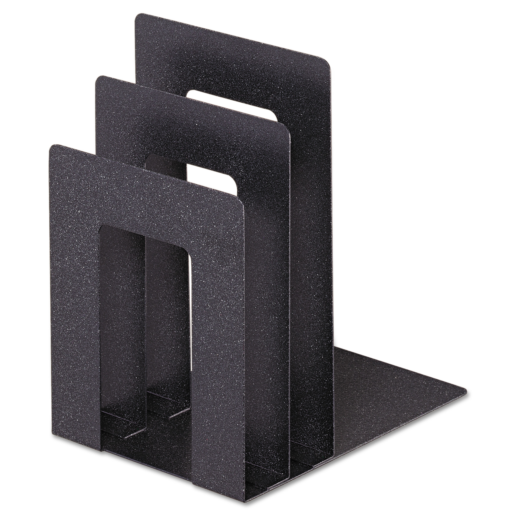 SteelMaster Soho Bookend with Squared Corners, 5w x 7d x 8h, Granite
