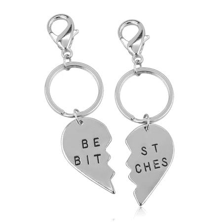 Lux Accessories Best Bitches BFF Best Friends Forever Matching Keychain Set (2