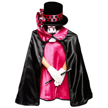 Cute Magician Costume (Magician Costume Set - pink - 6 pieces including xl storage)
