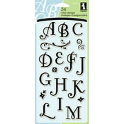 "Inkadinkado ""R"" Clear Stamps, Coffee House Alphabet"