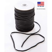 Elastic 1/8 inch for sewing masks, elastic Band 1/8 inch for Sewing, 1/8 inch elastic bands for sewing 1/8 inch for mask, 1/8 inch flat elastic for sewing , braided,  flat, 70 yards, black