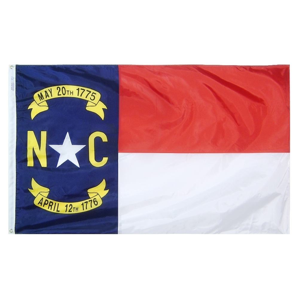 North Carolina State Flag 3x5 ft. Nylon Official State Design Specifications.