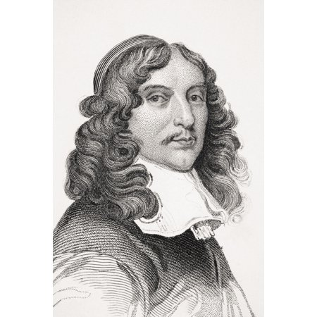 Andrew Marvell 1621 1678 English Metaphysical Poet From Old Englands Worthies By Lord Brougham And Others Published London Circa 1880S Canvas Art   Ken Welsh  Design Pics  11 X 17