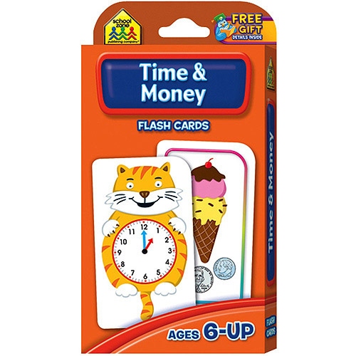 Flash Cards-Time and Money, 50pk