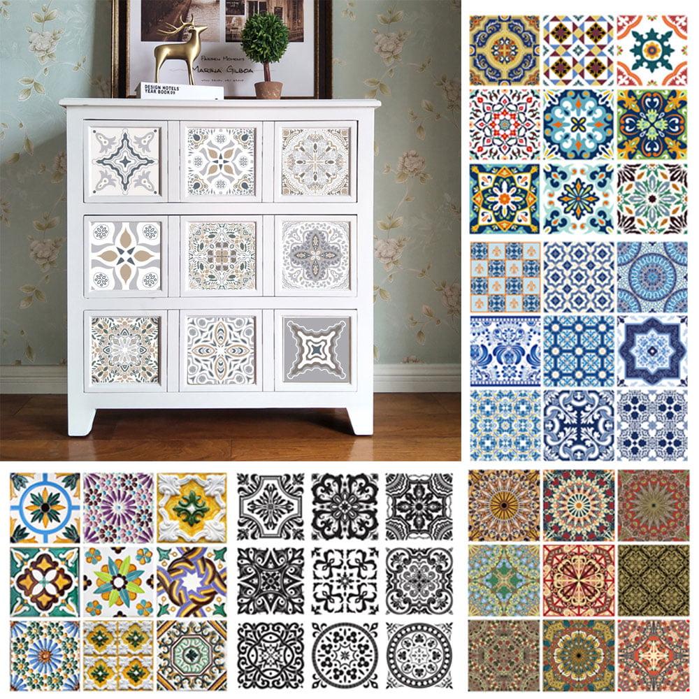 10 pcs Waterproof Vinyl Wall Tiles Sticker for Home Decor ...