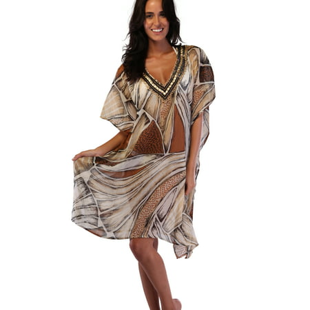 Beaded Poncho (Ingear Long Beaded Poncho Fashion Dress Summer Cover Up)