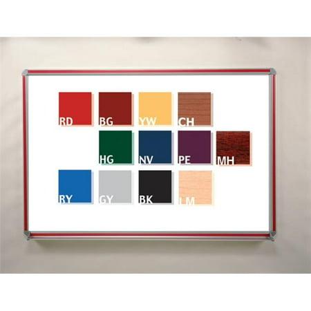 Aluminum Frame Porcelain - Ghent DFMCH34 3 ft. x 4 ft. DecoAurora Aluminum Frame Porcelain Markerboard - Cherry Trim