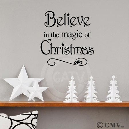 - Believe in the Magic of Christmas Wall Decal Vinyl Lettering Sticker (10.2