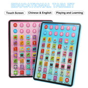 Baby Kids English Chinese Learing Tablet Touch Screen Harmless Early Educational Learning Toys Game Laptop Gifts For Girls Boys Toddler Developing