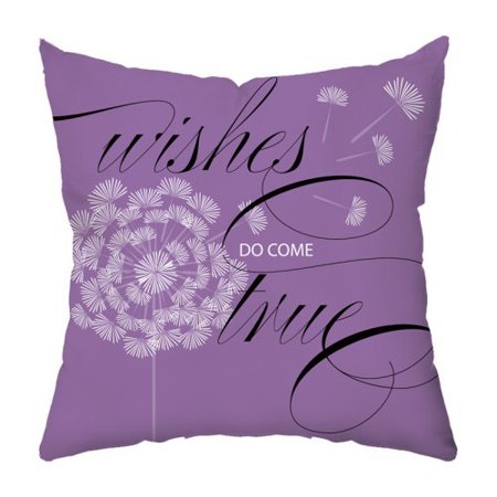 Throw Pillow Lilac : Wishes in Lilac Throw Pillow - Walmart.com