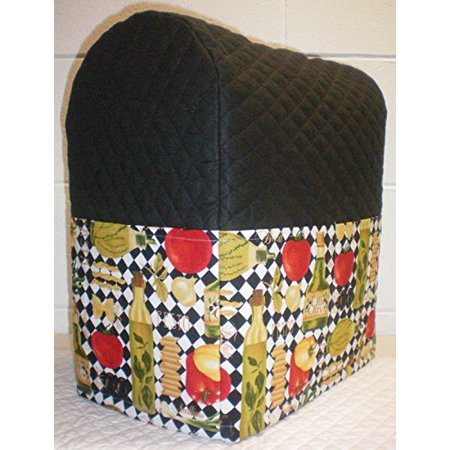 Quilted Italian Kitchen Cover for Kitchenaid Lift Bowl Stand Mixer (Black)