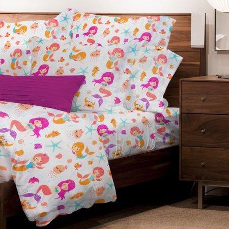 Maria Sheet Set - Zoomie Kids Mario Mermaids 3 Piece Microfiber Sheet Set