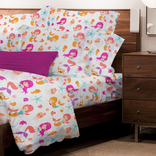 Zoomie Kids Mario Mermaids 3 Piece Microfiber Sheet Set