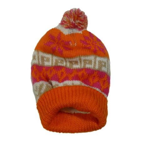 SO - S0 Womens Orange Pom Pom Beanie Sherpa Lined Stocking Cap Hat -  Walmart.com e2cb057dd