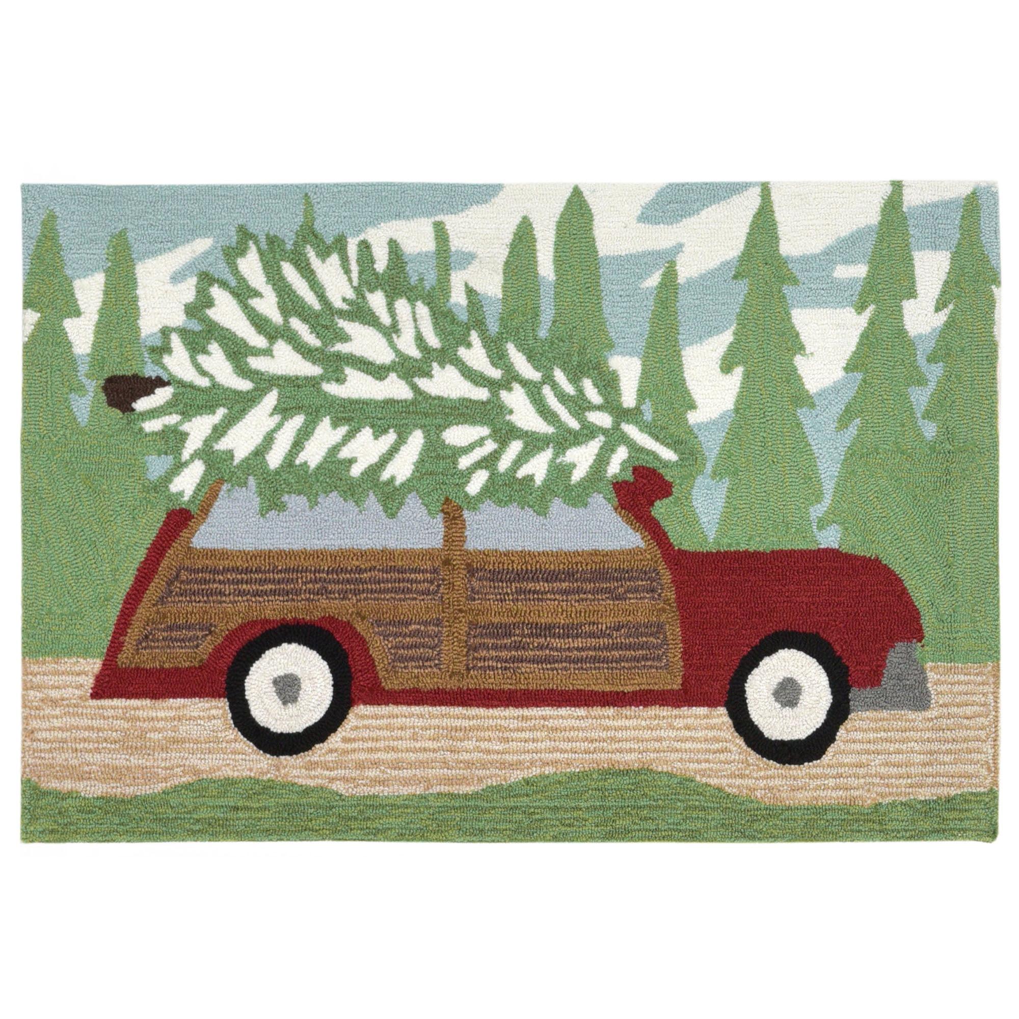 Liora Manne Frontporch 1853/16 Woody Wonderland Pine Area Rug