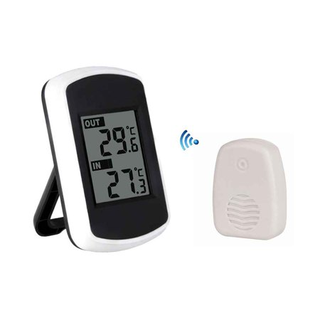 JOYFEEL Digital Wireless Thermometer Remote Indoor Outdoor Temperature Gauge Receiver Transmitter Home Office Use