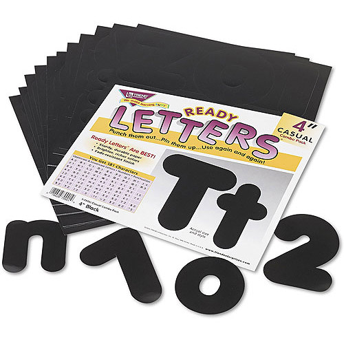 "Trend Ready Letters 4"" Casual Combo Set"