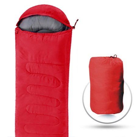 Camping Sleeping Bag Resistant Portable Envelope Compression Sack Carrying Case Fits 3 Seasons