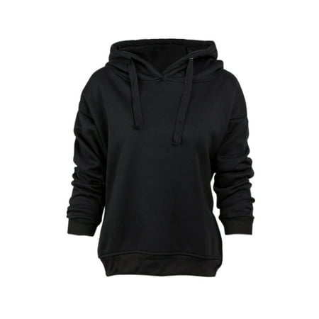 Polyester Leisure Suit (Women's Long Sleeve Pullover Hoodies for Women, Fashion Leisure Hoodies Sweartshirts for Women, Black / Gray / Army Green Outwear Blouse Tops for Juniors, S-L(Asian)