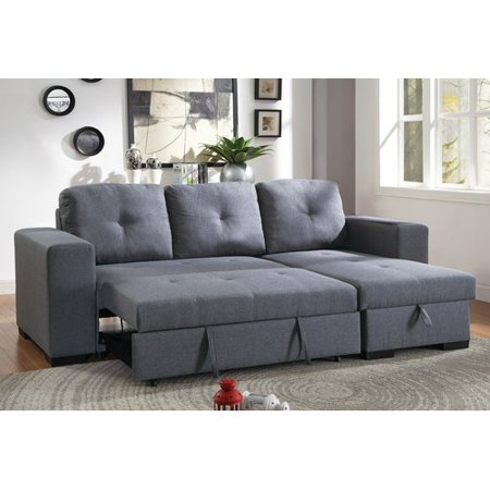 Surprising Ivy Bronx Buchman Linen Like Reversible Sectional With Pull Out Bed Frankydiablos Diy Chair Ideas Frankydiabloscom