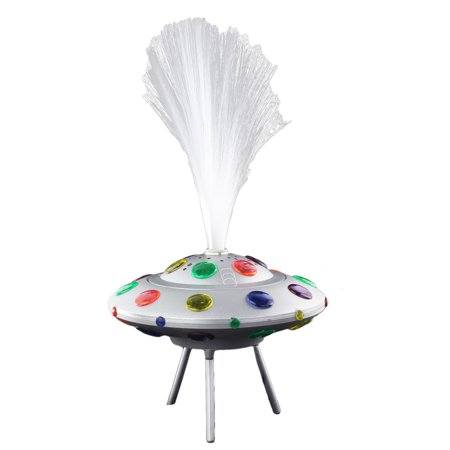 Groovy Spinning UFO Fiber Optic Light with Different Light Colors. Cool for Kid's - Cheap Fiber Optic Lights