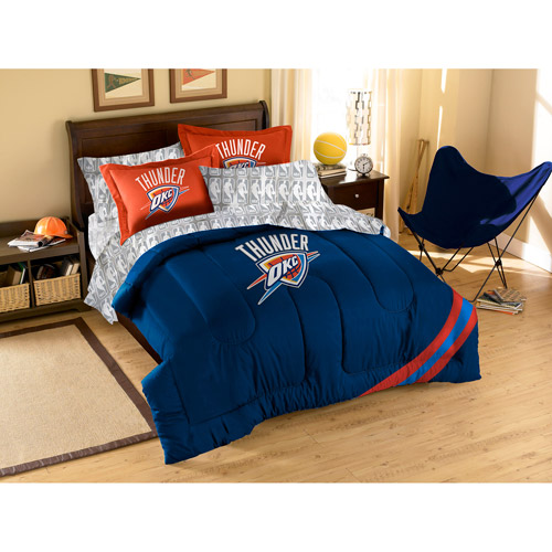 NBA Applique 3-Piece Bedding Comforter Set, Thunder