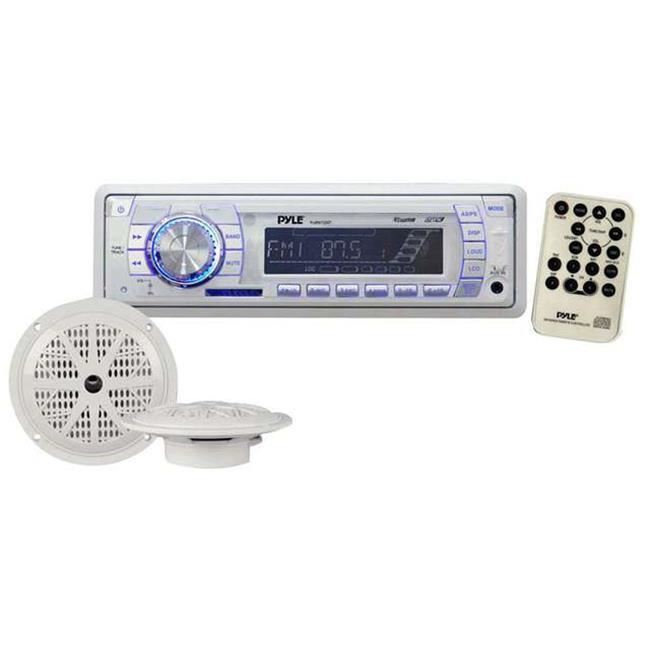 In-Dash Marine AM-FM PLL Tuning Radio USB-SD-MMC AUX Input with Remote