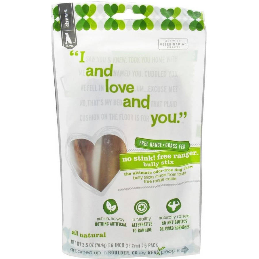 I And Love And You Dog Chews, No Stink, 5-Count, 6-Pack