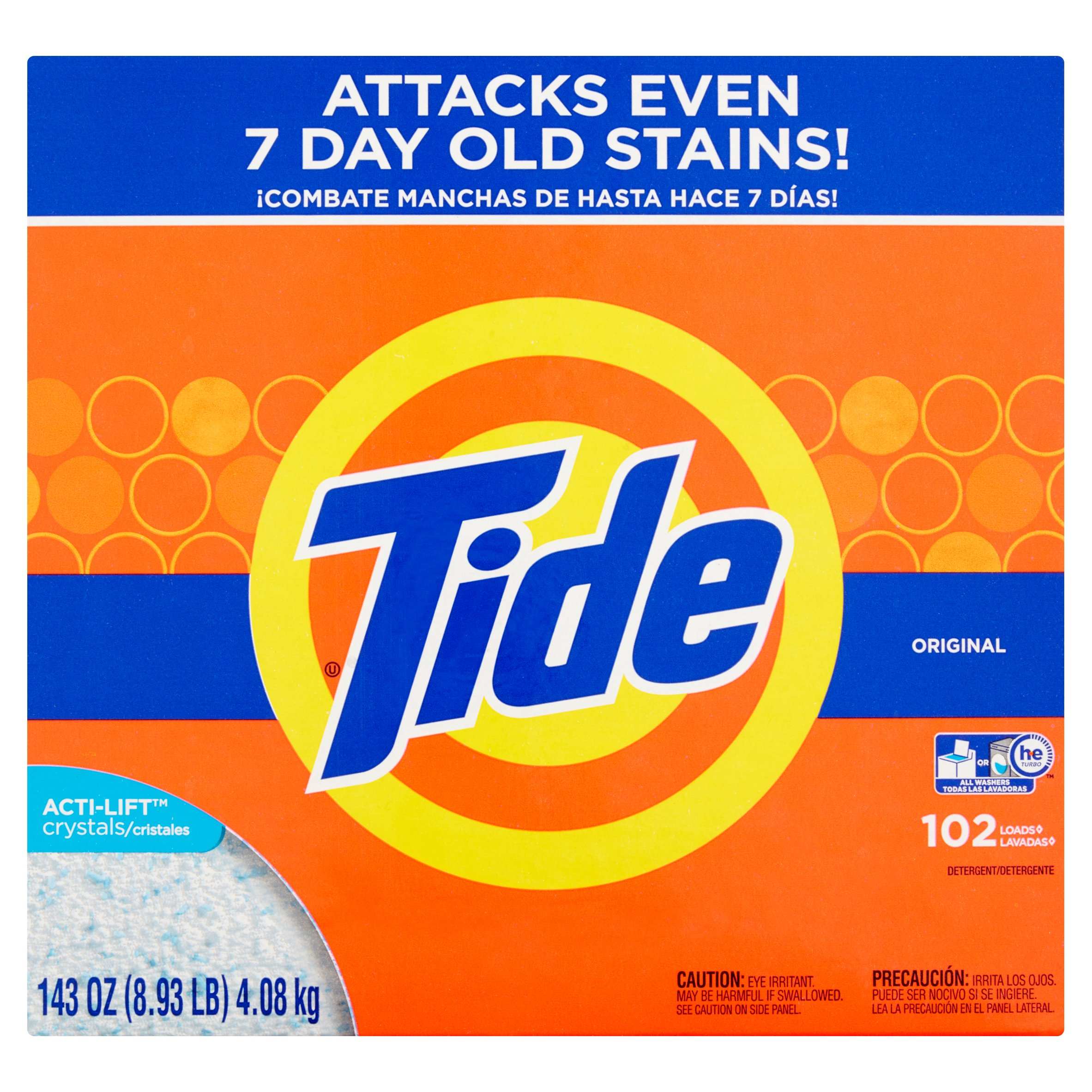 Is arm and hammer powder laundry detergent he - Tide He Turbo Powder Laundry Detergent Original Scent 102 Loads 143 Oz Walmart Com