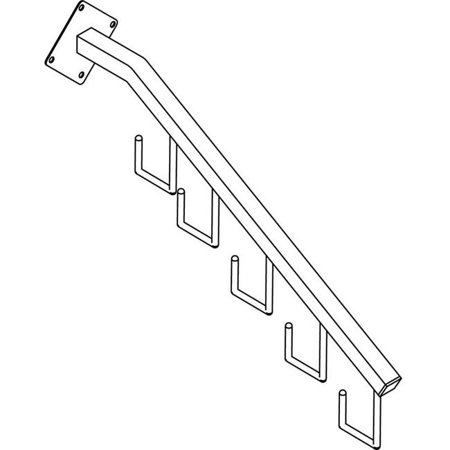 Waterfall Square Tube - TB-5H-CH 5-Hook Waterfall for 18 in. Square Tube