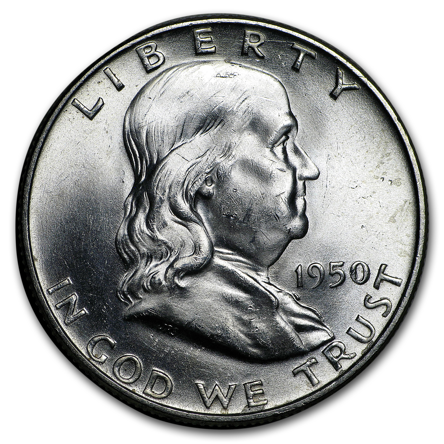 1950-D Franklin Half Dollar BU
