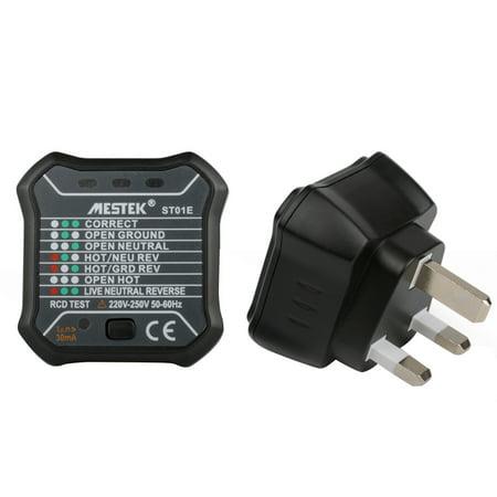 Peachy Mestek St01D Rcd Electric Socket Tester Neutral Live Earth Wire Wiring Digital Resources Jebrpkbiperorg