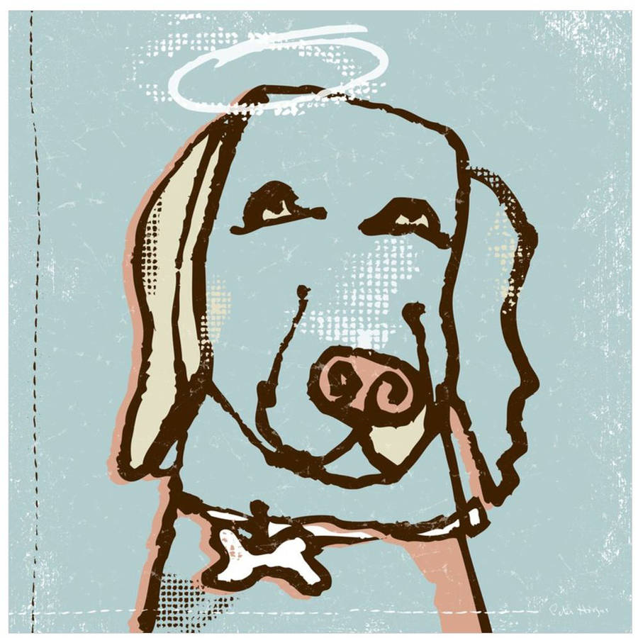Good Dog Labrador by Eazl Canvas Poster