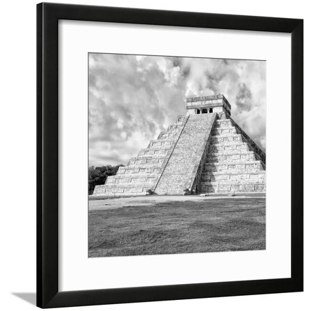 ¡Viva Mexico! Square Collection - Chichen Itza Pyramid IV Framed Print Wall Art By Philippe Hugonnard Chichen Itza Mexico Framed