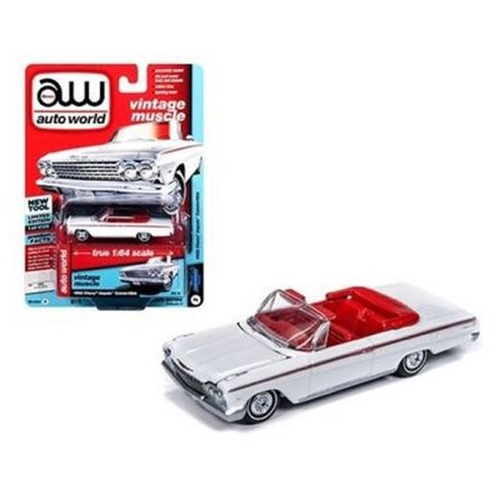 AUTO WORLD 1:64 PREMIUM 2018 RELEASE 4 VERSION A - 1962 CHEVROLET IMPALA CONVERTIBLE (ERMINE WHITE) (White Chevrolet Impala)