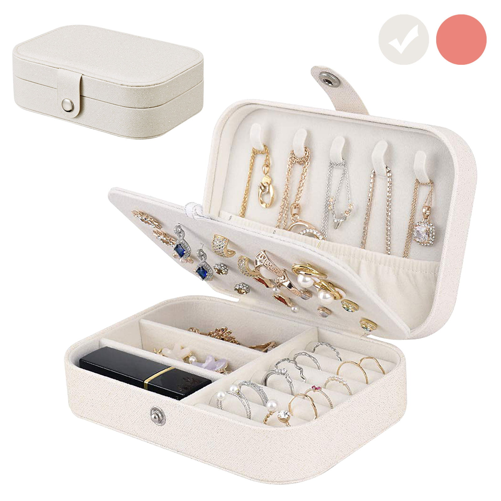 Gift for woman bracelets earrings Jewelry organizer Storage watches Holder for storing necklaces ring Organizer for home and travel
